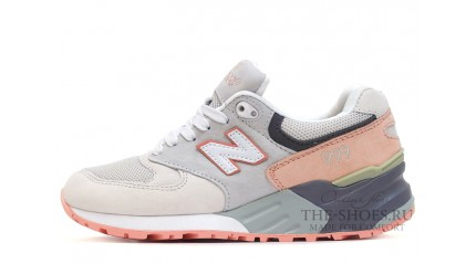 New Balance 999 White Grey Pink