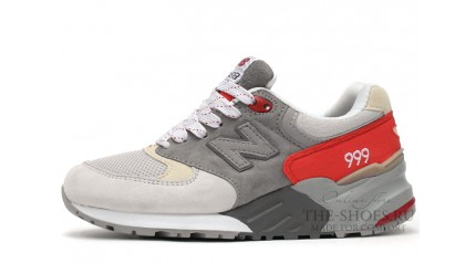New Balance 999 Double Grey White Red
