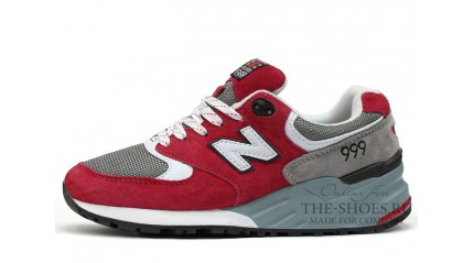 New Balance 999 Red Grey White