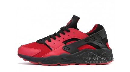Nike Air Huarache Love Hate Red Black