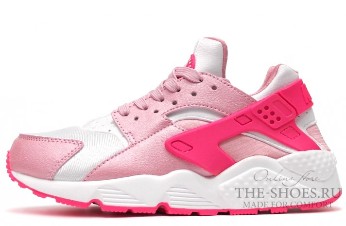 Nike Air Huarache Double Pink White розовые