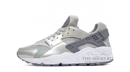 Nike Air Huarache Metallic Silver Gray White