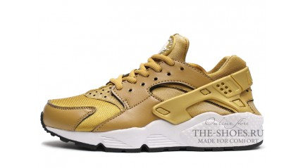 Nike Air Huarache Bronzine Gold White
