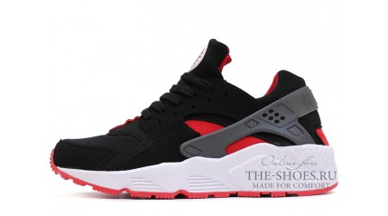 Huarache КРОССОВКИ ЖЕНСКИЕ<br/> NIKE AIR HUARACHE BLACK RED WHITE GRAY