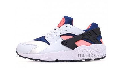 Nike Air Huarache White Blue Pink Black