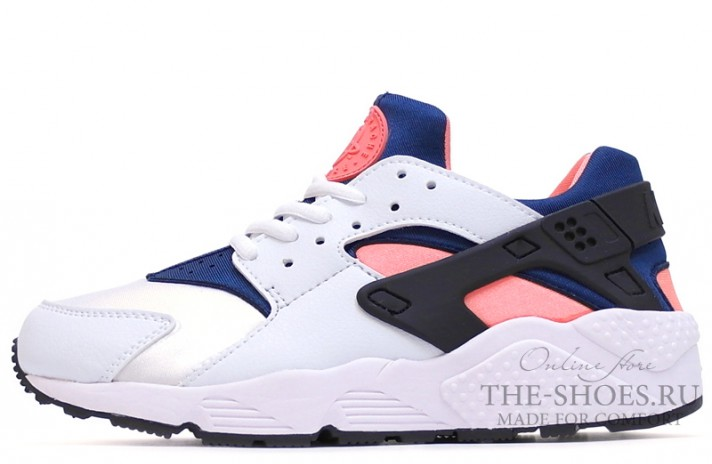 Кроссовки Nike Air Huarache White Blue Pink Black