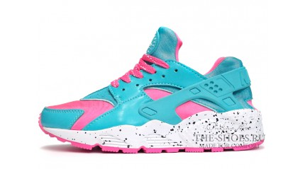 Huarache КРОССОВКИ ЖЕНСКИЕ<br/> NIKE AIR HUARACHE TURQUOISE PINK WHITE