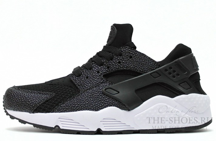 Nike Air Huarache Stingray White Black черные