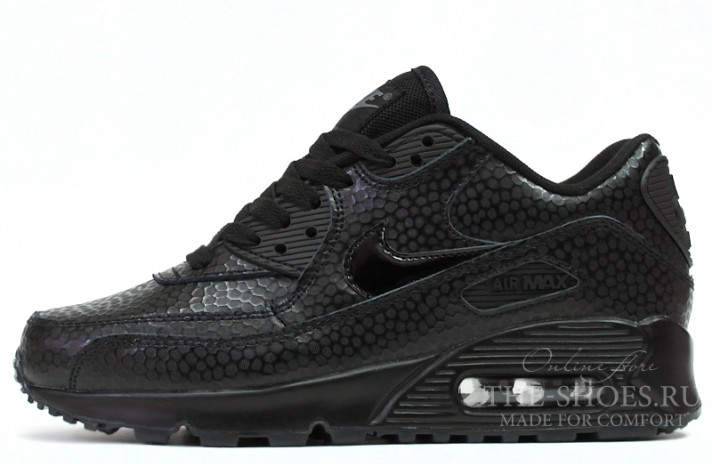 Кроссовки Nike Air Max 90 Leather Black Pearl