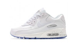 Nike Air Max 90 Leather White Pearl белые кожаные