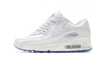Кроссовки Женские Nike Air Max 90 Leather White Pearl