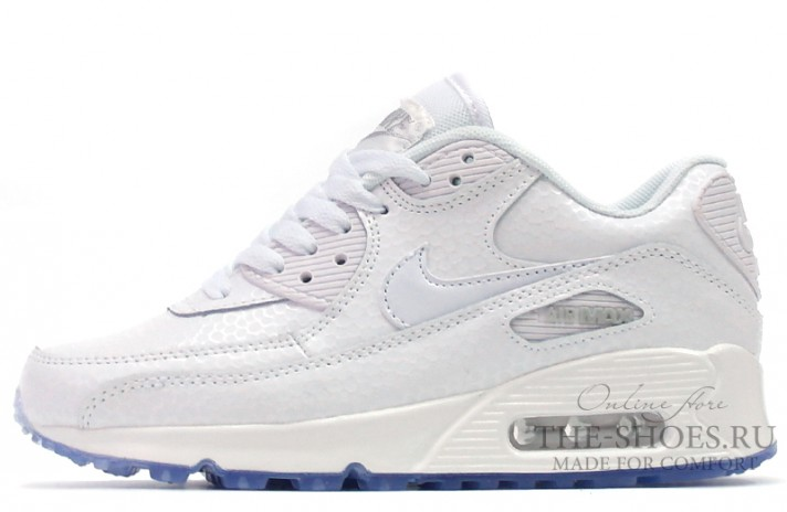 Nike Air Max 90 Leather White Pearl белые кожаные, фото 1