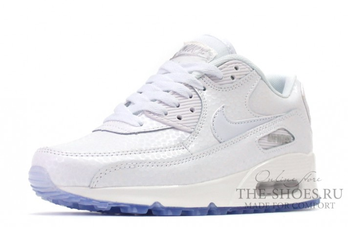 Nike Air Max 90 Leather White Pearl белые кожаные, фото 3