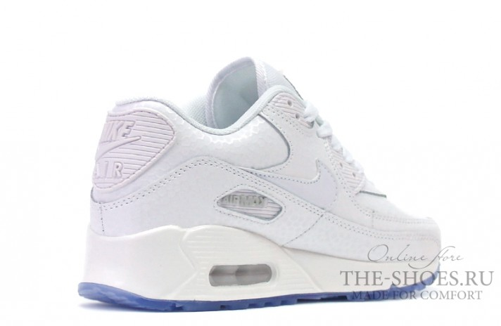 Nike Air Max 90 Leather White Pearl белые кожаные, фото 2