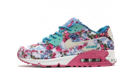 Air Max 90 КРОССОВКИ ЖЕНСКИЕ<br/> NIKE AIR MAX 90 FLOWER PRINT PINK MINT