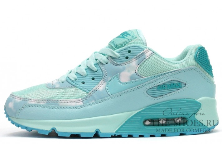 Nike Air Max 90 Essential Printed Artisan Teal Mint бирюзовые бирюзово-мятные