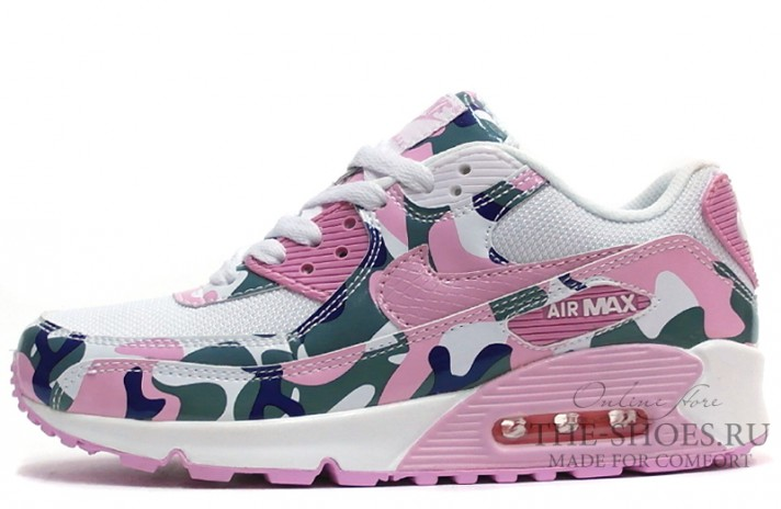 Кроссовки Nike Air Max 90 Essential White Pink Camo