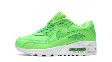 Air Max 90 КРОССОВКИ ЖЕНСКИЕ<br/> NIKE AIR MAX 90 LEATHER FRESH LIME WHITE