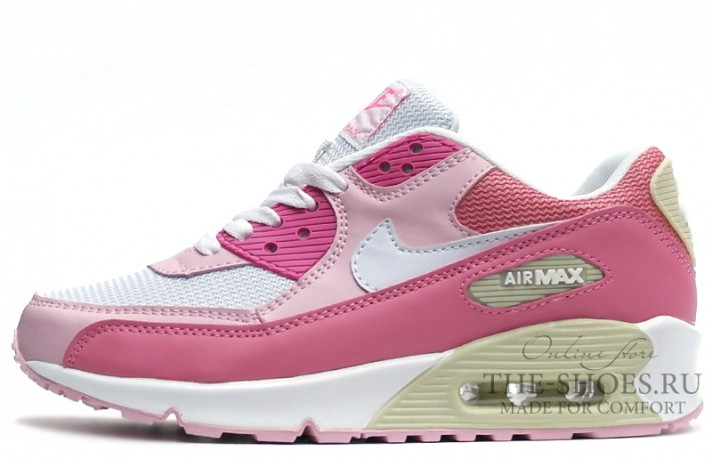 Nike Air Max 90 Essential Pink White Beige розовые