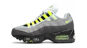 Кроссовки мужские Nike Air Max 95 Dual Grey Venom Green