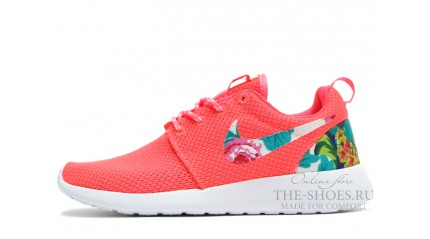 Roshe Run КРОССОВКИ ЖЕНСКИЕ<br/> NIKE ROSHE RUN FLOWER REAR PINK WHITE