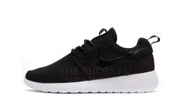 Nike Roshe Run Black White черные