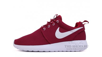 Roshe Run КРОССОВКИ ЖЕНСКИЕ<br/> NIKE ROSHE RUN BURGUNDY WHITE
