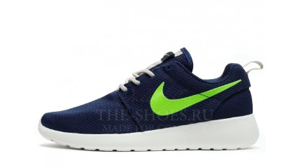 Roshe Run КРОССОВКИ ЖЕНСКИЕ<br/> NIKE ROSHE RUN BLUE ACID GREEN WHITE