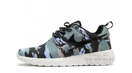 Nike Roshe Run Extra Camo Black White