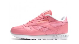 Reebok Classic Leather Pink White розовые кожаные