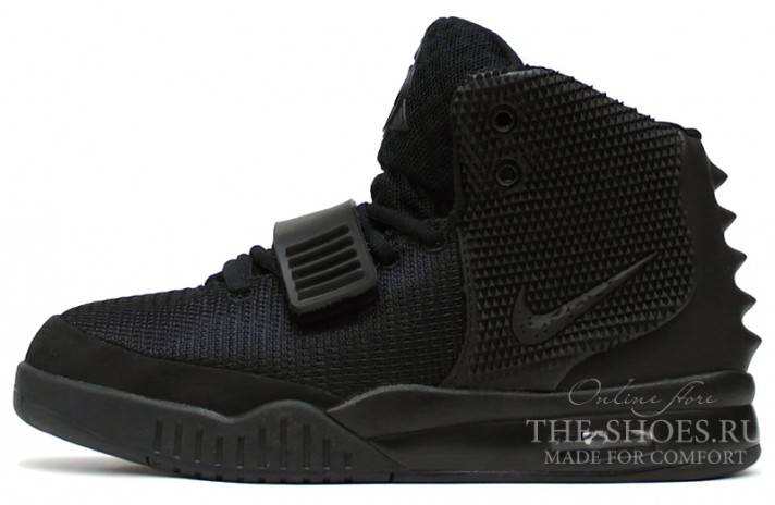 969b522a Купить Nike Air Yeezy 2 Blackout - черные