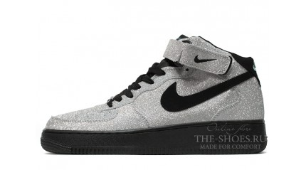 Air Force КРОССОВКИ МУЖСКИЕ<br/> NIKE AIR FORCE MID GRAY TINSEL BLACK