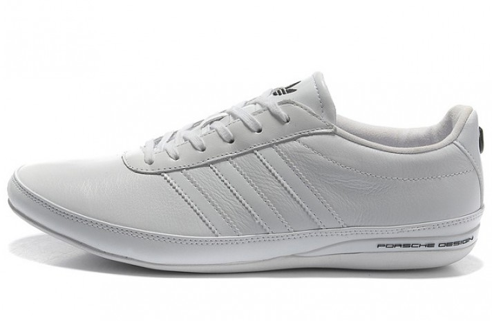 Adidas Porsche Design S3 leather pure white smooth белые кожаные
