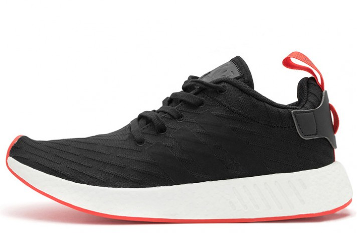 864ac28c1262 Купить ADIDAS NMD R2 Primeknit Black Red - черные