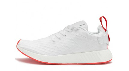 NMD КРОССОВКИ МУЖСКИЕ<br/> ADIDAS NMD R2 PRIMEKNIT WHITE CORE RED