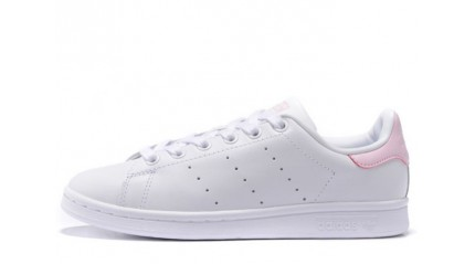 Stan Smith КРОССОВКИ ЖЕНСКИЕ<br/> ADIDAS STAN SMITH WHITE PINK LEATHER