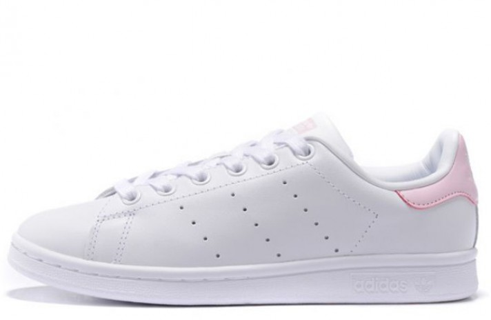 Кроссовки Adidas Stan Smith White Pink Leather