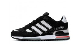 Adidas ZX 750 Black White Gray черные
