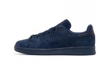 Кроссовки мужские Adidas Stan Smith Blue Deep Suede Pack