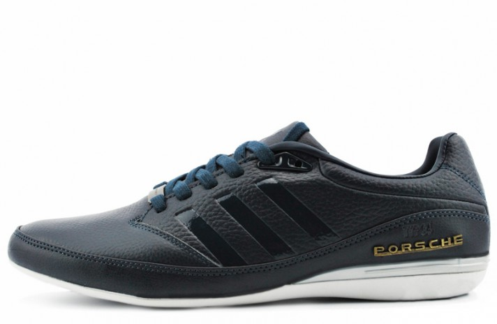 Adidas Porsche Design TYP 64 v2 leather Dark Blue темно-синие кожаные
