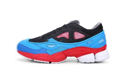 Raf simons КРОССОВКИ МУЖСКИЕ<br/> ADIDAS RAF SIMONS OZWEEGO 2 BLACK BLUE RED