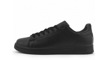 Кроссовки женские Adidas Stan Smith Black Full Leather