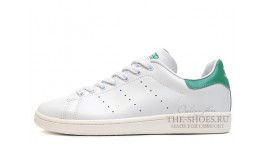 Adidas Stan Smith White Green Leather белые кожаные