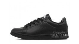 Adidas Stan Smith Raf Simons Black Full черные кожаные