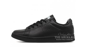 Кроссовки женские Adidas Stan Smith Raf Simons Black Full