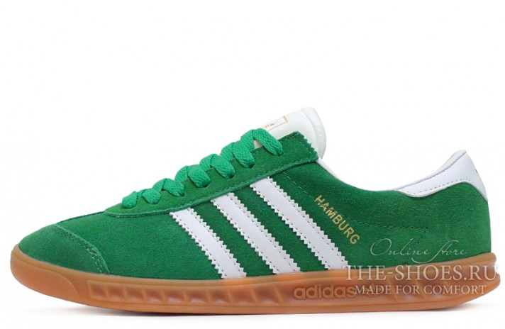 Adidas Hamburg Green White зеленые, фото 1