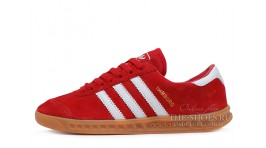 Adidas Hamburg Red White красные