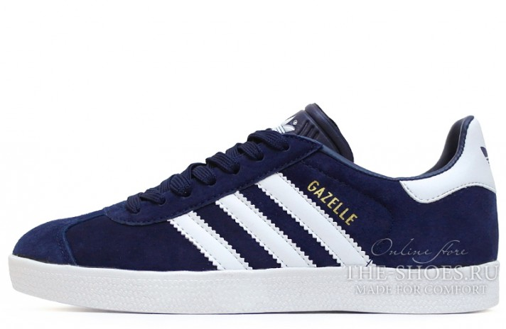 Adidas Gazelle Blue Dark White темно-синие