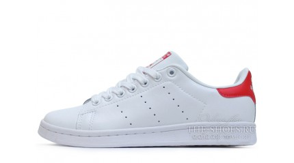 Stan Smith КРОССОВКИ ЖЕНСКИЕ<br/> ADIDAS STAN SMITH WHITE RED LEATHER
