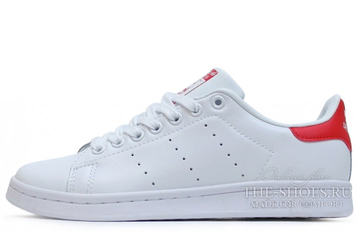 Кроссовки Adidas Stan Smith White Red Leather